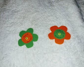 Green and Orange Sophie Blossoms