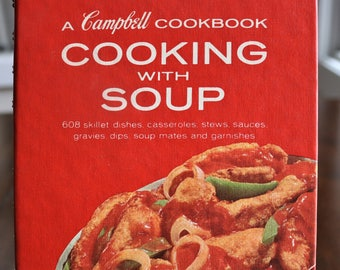 Campbell Soup Cookbook, Vintage Cookbook, Cooking with Soup, Retro Cook Book, Gift for Cook, Gift for Vintage Lover, 1970s Cookbook
