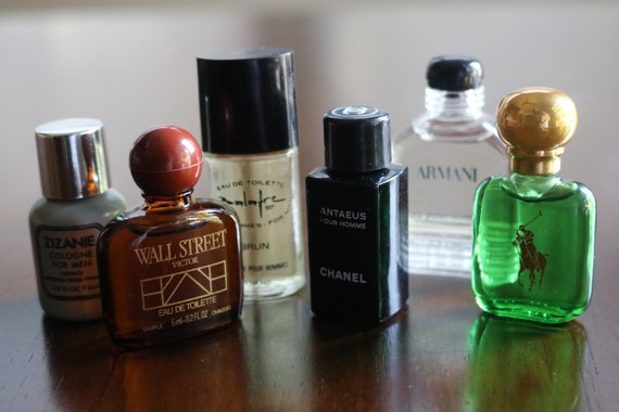 6 Vintage Men S Cologne Samples Cologne Collectibles Etsy