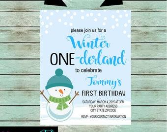 snowman invitations etsy