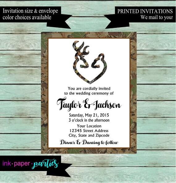 hunting hunt deer camo wedding bridal shower rehearsal dinner etsy