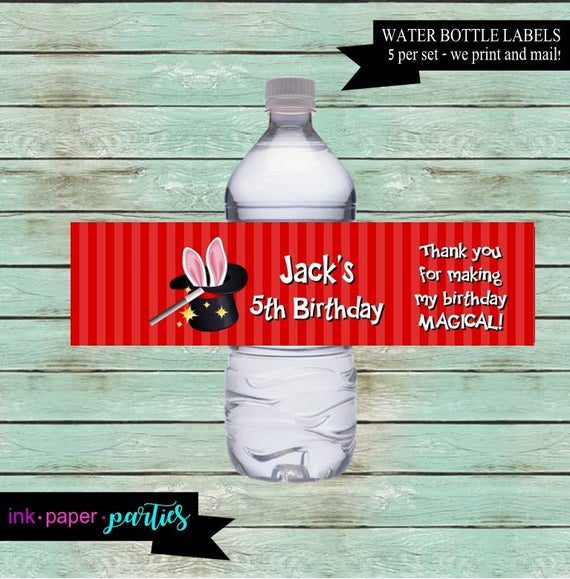 Magic Magician Rabbit Hat Birthday Party Favors Favor Favors Candy Bag Bags Treat Toppers Personalized Custom Design