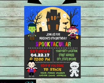 Halloween Kids Costume Candy Party Invitations Invites Personalized Custom Design ~ We Print and Mail
