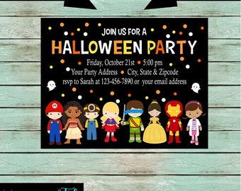 Halloween Kids Costume Party Invitations Invites Personalized Custom Design ~ We Print and Mail