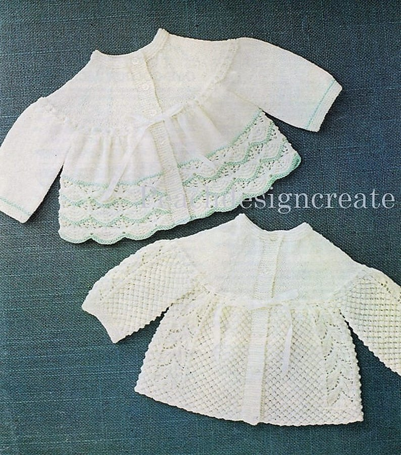 295aa9e52 Knitting patten premature baby girls matinee jacket coat