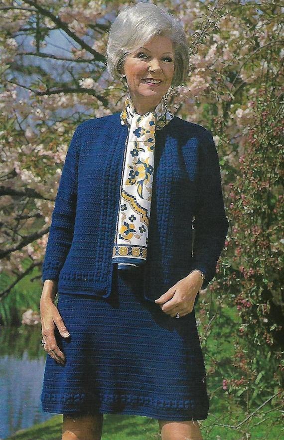 Crochet Pattern Pdf Women S Ladies Jacket And Skirt Etsy