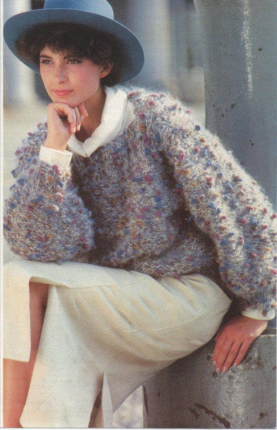 Vintage Knitting Patterns Womens Ladies Tweed Knit Etsy