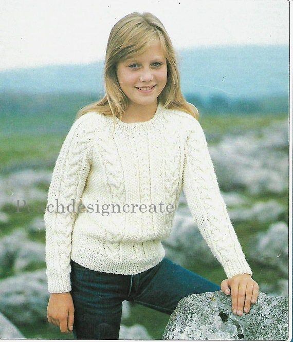 knitting pattern children\'s boy\'s girl\'s cable   Etsy