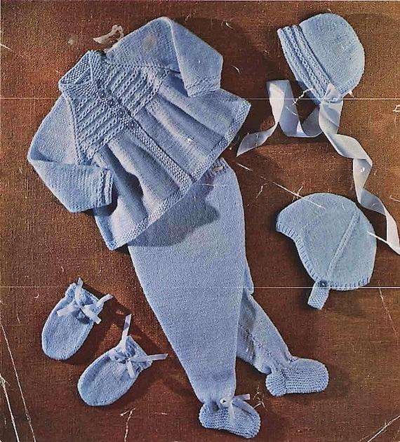 f84f372a7518 baby pram set sizes 20-22 in knitting pattern pdf digital