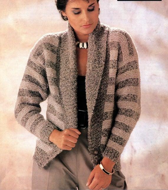 Pdf Knitting Pattern Women S Ladies Jacket Cardigan Etsy