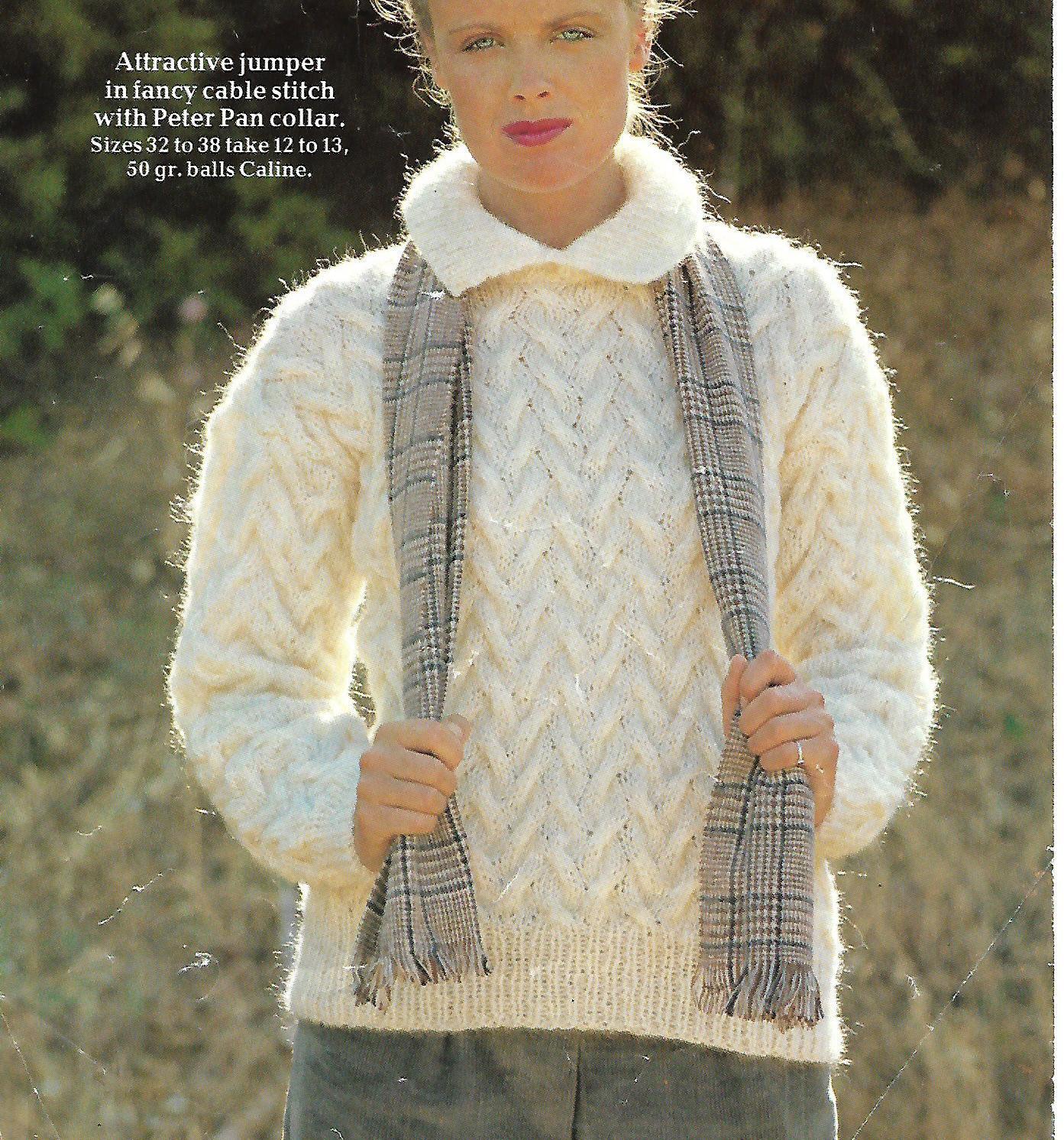 knitting pattern womens ladies jumper sweater sizes etsy