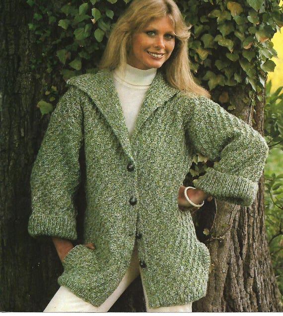 5e8b0eb800c1 Knitting pattern pdf women s ladies jacket cardigan