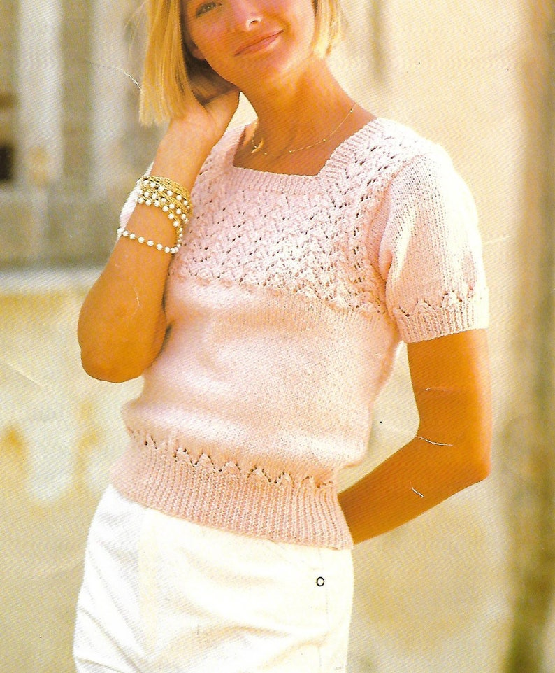 jumper knickers and slipover dk knitting pattern 99p