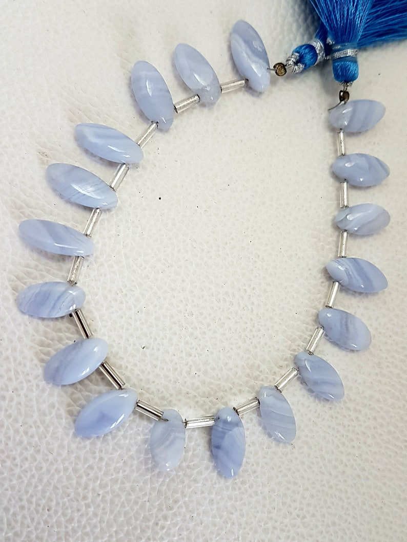 Blue Lace Agate Oval shape smooth beads,blue lace agate beads,AAA quality blue lace agate Oval shape Briolettes,13-15 mm,8 Inch Strand
