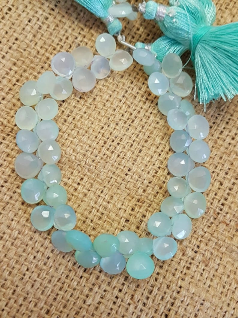 6 To 7 MM 8 Inch Long Strand AAA Quality Loose Beads, New Arrival Natural Blue Opal Faceted Heart shape Beads Wholesales Supplies
