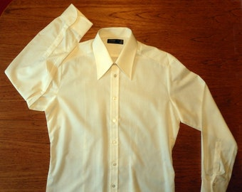 "Vintage Pointed Collar Long Sleeve Shirt-Size 16""-New Old Stock"
