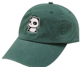 56ecafd05fac8 Capsule Design Cute Panda Dad Hat in Hunter Green