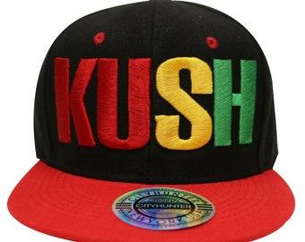 e2b726401f7fc Capsule Design Cf1750 Kush Rasta Gradation Summer Snapback Cap - Black red