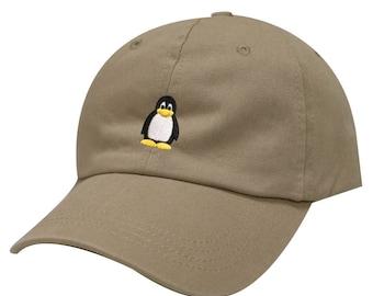 bde061d829c5bd Capsule Design Penguin Cotton Baseball Dad Cap Khaki