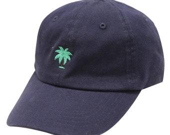 a321d1de6ec564 Capsule Design Palm Tree Cotton Baseball Cap - Navy