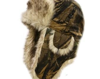 9fdfa6fd9 Camo trapper hat | Etsy