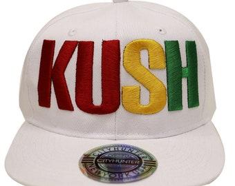 1554bc7f4f3fd Capsule Design Cf1750 Kush Rasta Gradation Summer Snapback Cap - White