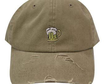 cc9ab1466bbe9 Capsule Design Beer Vintage Cotton Baseball Caps Khaki