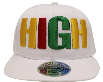 78b11c1214a7c Capsule Design Cf1740 Kush High Rasta Gradation Summer Snapback Cap - White