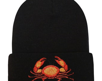 0e132dc53ba Capsule Design Crab Basic Ski Winter Beanie Hats Black