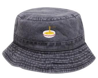 a75222d69bbb5c Capsule Design Noodles Washed Cotton Bucket Hats - Black