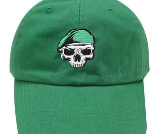 56a5ba2bb Capsule Design Pirate Cotton Baseball Dad Cap Kelly Green