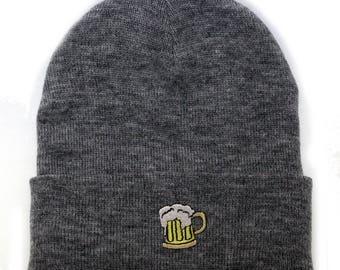 4c283b99d0717 Capsule Design Beer Basic Ski Winter Beanie Hats Light Grey