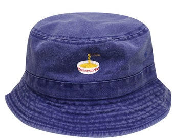 ae92b27c303 Capsule Design Noodles Washed Cotton Bucket Hats - Royal
