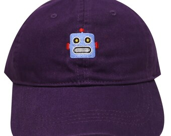 Capsule Design Robot Dad Hat in Dark Purple fe54e50468bd