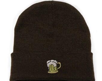 6b07237b91368 Capsule Design Beer Basic Ski Winter Beanie Hats Brown