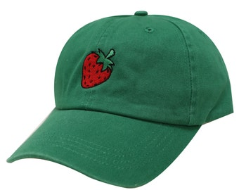 Capsule Design Strawberry Cotton Baseball Dad Cap Kelly Green 769fc838d114