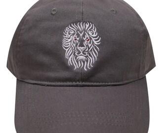 sale retailer dfb1b 34c32 Capsule Design Lion Shadow Cotton Baseball Dad Cap Dark Gray
