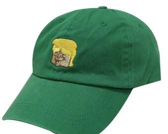 Capsule Design Trump Emoji Cotton Baseball Dad Cap Kelly Green dec239fe27fb