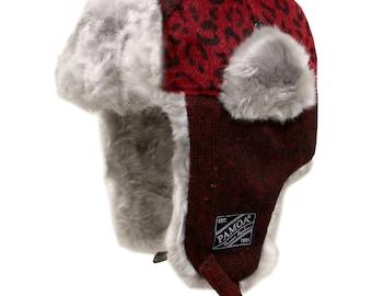 a80520482db Capsule Design Extra Warm Pmtr100 Wool Leopard Winter Fur Trapper Hat - Red