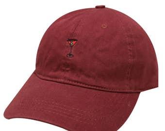 58437572c0506 Capsule Design Martini Cotton Baseball Dad Cap Burgundy