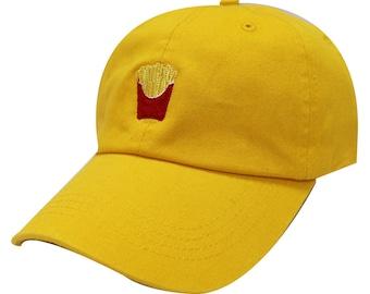 93360854c41 Capsule Design French Fries Cotton Baseball Dad Cap Gold