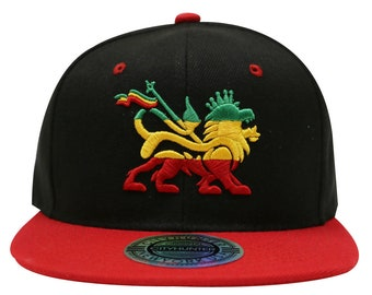 e47b503c946ec Capsule Design Cf1700 Rasta 3d Lion Gradation Summer Snapback Cap - Black  red
