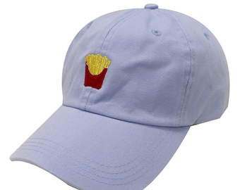 9c550a28704 Capsule Design French Fries Cotton Baseball Dad Cap Sky