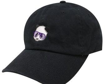 f944f0fd493 Capsule Design Club Panda Cotton Baseball Dad Cap Black