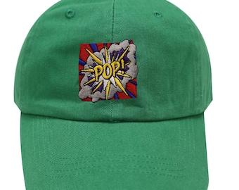 Capsule Design Pop Art Embroidered Baseball Cap Kelly Green 4d9170600859