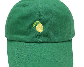 207222ae Capsule Design Lemon Cotton Baseball Dad Caps Kelly Green