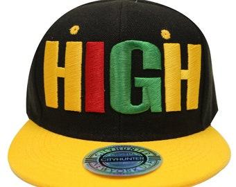 3fedd77937cfc Capsule Design Cf1740 Kush High Rasta Gradation Summer Snapback Cap -  Black gold