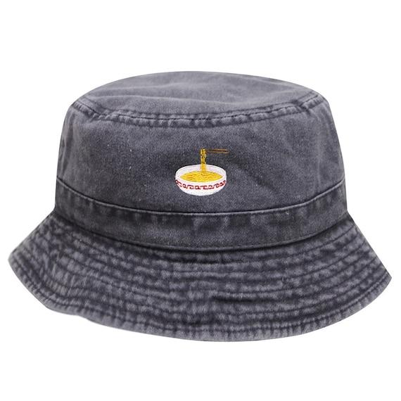 c2af0dd52 Capsule Design Noodles Washed Cotton Bucket Hats - Black
