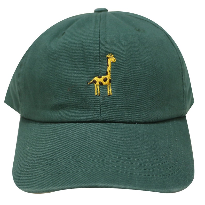 52fc1f081e6 Capsule Design Giraffe Embroidered Cotton Baseball Dad Cap