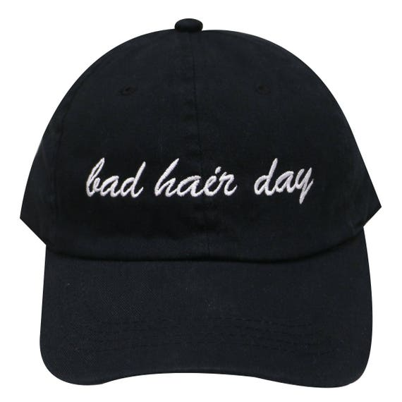 Capsule Design Bad Hair Day Dad Cotton Baseball Cap in Black  2e4690d9049